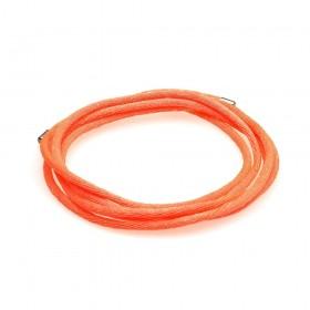 Thomas Sabo cordón naranja neón con terminaciones en plata.
