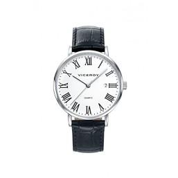 Viceroy reloj analógico de caballero con correa de piel.