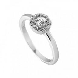 Diamonfire anillo de mujer en plata y circonitas.