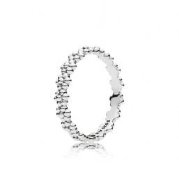 """Pandora anillo """"Margaritas"""" en plata talla 12."""