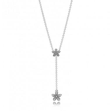 """Pandora collar """"Margaritas Deslumbrantes"""" en plata."""