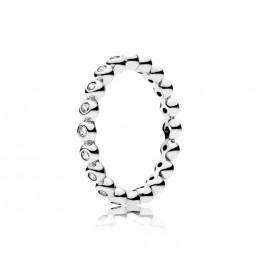 """Pandora anillo en plata """"Para la Eternidad"""" talla 14."""