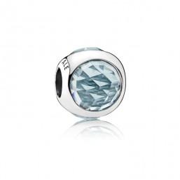 """Pandora charm para pulsera """"Gota Radiante Azul Agua"""""""