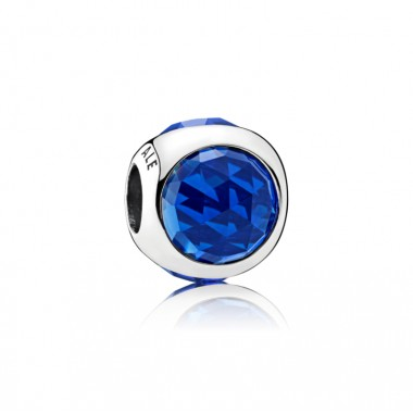 "Pandora charm para pulsera ""Gota Radiante Azul Royal"""