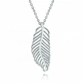 """Pandora collar """"Light as a Feather"""" en plata y circonitas."""
