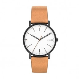Skagen Signature reloj de caballero en piel.