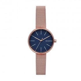 Skagen Signatur reloj de mujer en acero acabado en rosa.