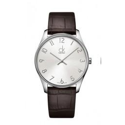 Calvin Klein Classic reloj de caballero con correa de piel.