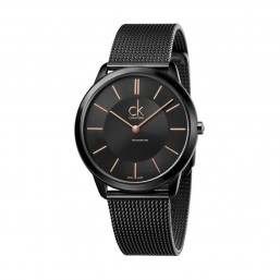Calvin Klein Minimal reloj de caballero en acero PVD negro