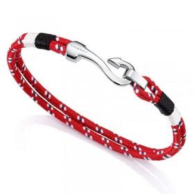 Viceroy Fashion pulsera de caballero en cordón rojo y acero.