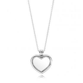 Pandora colgante Locket Corazón en plata.