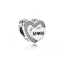 "Pandora charm para pulsera ""Atributo a Mamá"""