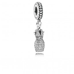 """Pandora charm colgante para pulsera """"Vestido Deslumbrante"""" en plata."""