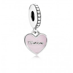 "Pandora charm colgante para pulsera ""Corazones Madre e Hija""."