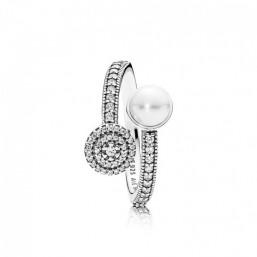 """Pandora anillo de mujer """"Brillo Luminoso"""" talla 12"""