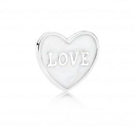 """Pandora plate """"Corazón de Amor"""" pequeño para Locket."""