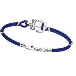 Zancan pulsera con ancla de caballero en cordón náutico azul.