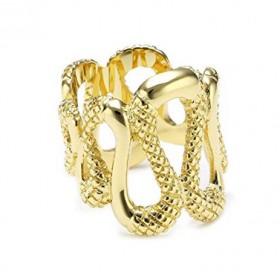 Just Cavalli anillo de mujer Sahara dorado.