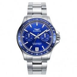 Sandoz reloj deportivo de caballero en acero.