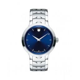 """Movado """"Luno"""" reloj de caballero en acero."""