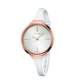 Calvin Klein reloj de mujer de la Colección Lively en caucho.