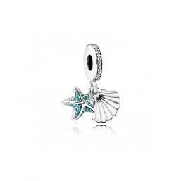 """Pandora charm colgante """"Estrella de mar Tropical y Concha"""""""