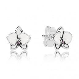 """Pandora pendientes de mujer """"Orquídeas Blancas"""""""