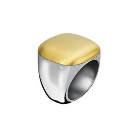 Calvin Klein anillo de mujer en acero bicolor