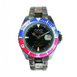 "OOO reloj de caballero ""Automatico Red and Blue"" en acero."