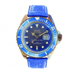 """OOO reloj de caballero """"Light Blue Jeans"""""""