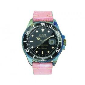"""OOO reloj de mujer """"Pink Croco"""" en piel."""