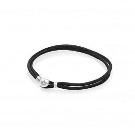 Pandora pulsera Moments en cordón Negro.