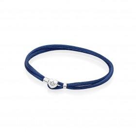 Pandora pulsera Moments en cordón Azul marino.