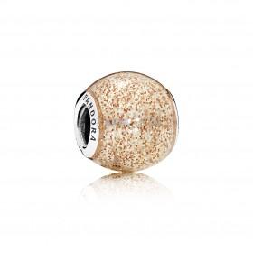 """Pandora charm """"Esfera Brillante"""" en color oro rosa."""