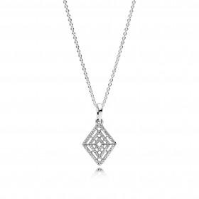 "Pandora collar ""Líneas Geométricas"" en plata."