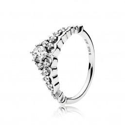 """Pandora anillo """"Tiara de Cuento de Hadas"""" en plata."""