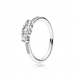 """Pandora anillo """"Brillo de Cuento de Hadas"""" en plata."""