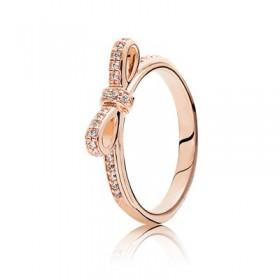 """Pandora Rose anillo """"Lazo Deslumbrante"""""""