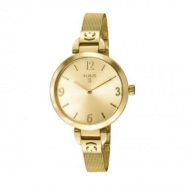 "Tous reloj de mujer ""Bohème"" en acero dorado."