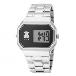 Tous D-Bear reloj digital de mujer en acero.