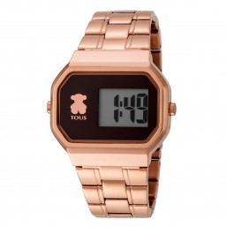 Tous D_Bear reloj digital de mujer en acero rosa