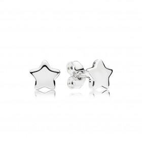 """Pandora pendientes """"Estrellas Brillantes"""" en plata."""