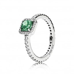 "Pandora ""Elegancia Atemporal Verde"" anillo."