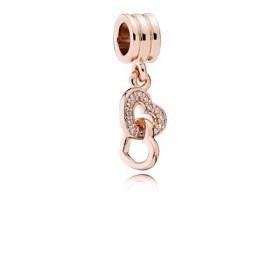 """Pandora Rose charm colgante """"Corazones Entrelazados"""""""