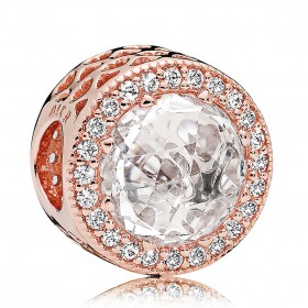 "Pandora Rose charm para pulsera ""Corazones Radiantes"""