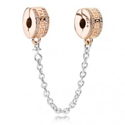 """Pandora Rose cadena de seguridad para pulsera """"Logo"""""""