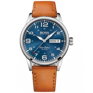 """Hugo Boss """"Pilot"""" reloj de caballero en piel"""