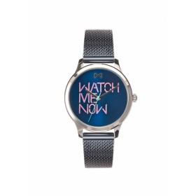 Mark Maddox reloj de mujer Colección Village en acero azul.