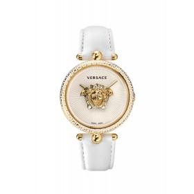 Versace reloj de mujer Colección Palazzo Empire en piel blanca.