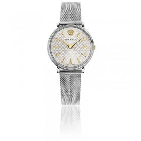 Versace reloj de mujer Colección V-Circle en acero.